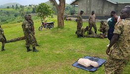 Combat First Aid course for the UPDF mountain instructors